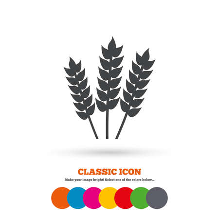 Agricultural sign icon  Gluten free or No gluten symbol