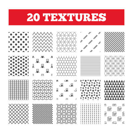 Seamless patterns  Endless textures  Pencil icon  Edit document file