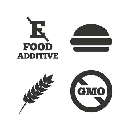Food additive icon  Hamburger fast food sign  Gluten free