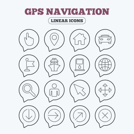 GPS navigation icons  Car and Ship transport  You are here