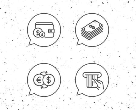photo relating to Free Printable Credit Card Signs referred to as Speech bubbles with signs or symptoms. Revenue, Revenue and Wallet line icons