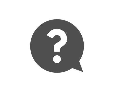 Illustration pour Question mark simple icon. Help speech bubble sign. FAQ symbol. Quality design elements. Classic style. Vector - image libre de droit
