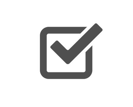 Illustration for Check simple icon. Approved Tick sign. Confirm, Done or Accept symbol. Quality design elements. Classic style. - Royalty Free Image