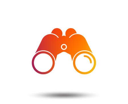 Vektor für Binoculars icon.  Blurred gradient design element. Vivid graphic flat icon. Vector - Lizenzfreies Bild