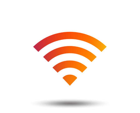 Wifi sign. Wi-fi symbol. Wireless Network icon. Wifi zone. Blurred gradient design element. Vivid graphic flat icon. Vector