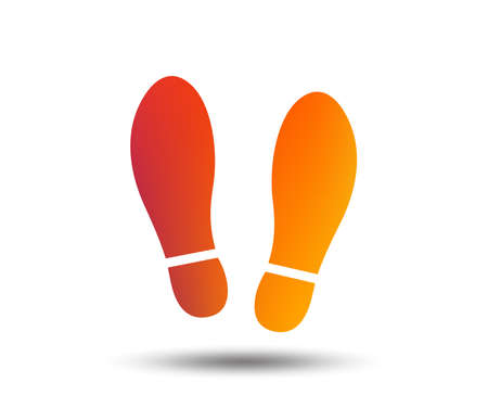 Ilustración de Imprint soles shoes sign icon. Shoe print symbol. Blurred gradient design element. Vivid graphic flat icon. Vector - Imagen libre de derechos
