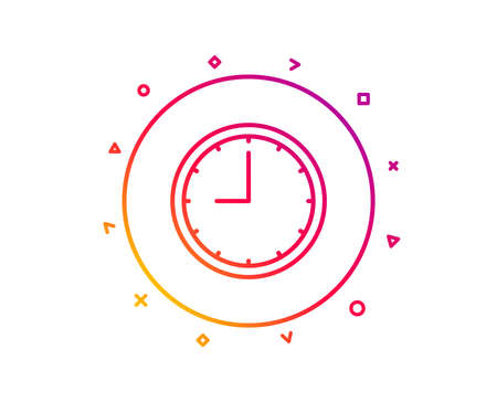 Clock line icon  Time sign  Office Watch or Timer symbol