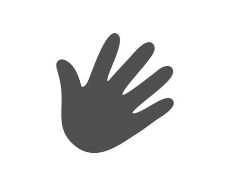 Illustration for Hand wave icon. Palm sign. Quality design element. Classic style icon. Vector - Royalty Free Image