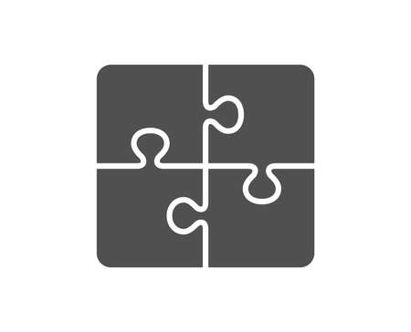 Illustration pour Puzzle icon. Engineering strategy sign. Quality design element. Classic style icon. Vector - image libre de droit