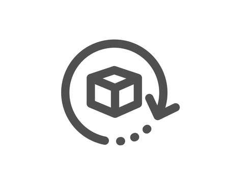 Illustration pour Delivery parcel sign. Return package icon. Cargo goods box symbol. Classic flat style. Simple return package icon. Vector - image libre de droit