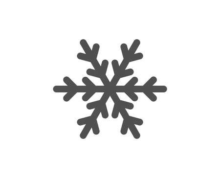 Ilustración de Snowflake sign. Air conditioning icon. Hotel service symbol. Classic flat style. Simple air conditioning icon. Vector - Imagen libre de derechos