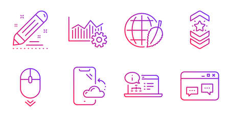 Shoulder strap, Brand contract and Online documentation line icons set. Environment day, Operational excellence and Smartphone cloud signs. Scroll down, Browser window symbols. Vector