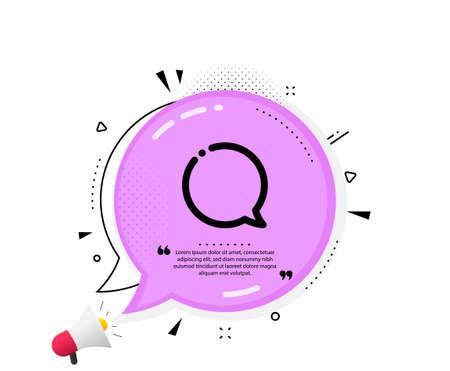 Illustration pour Speech bubble icon. Quote speech bubble. Chat sign. Social media message symbol. Quotation marks. Classic speech bubble icon. Vector - image libre de droit
