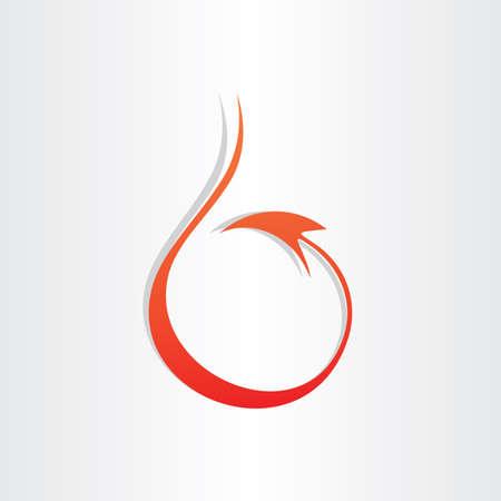 devil tail stylized icon red mascot symbol