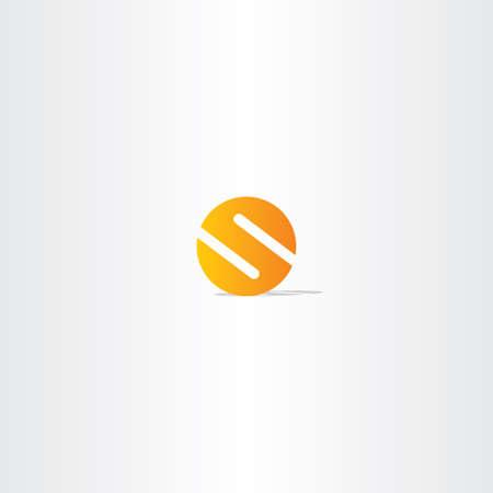 letter s circle orange logo sign number