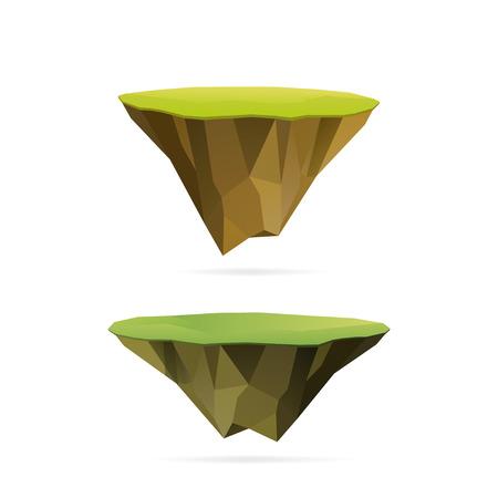 Polygonal floating islands