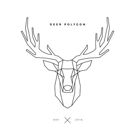 deer frame head, polygon illustration