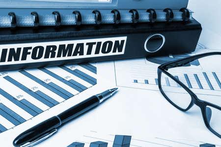 information label on document folder