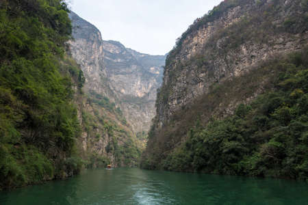 the wu gorge scenic spot of three gorges at the yangtze river, near Badong, Hubei, China