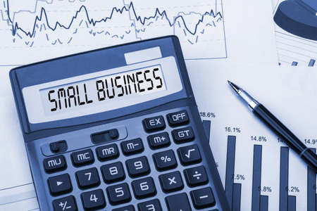 Photo pour word small business displayed on calculator - image libre de droit