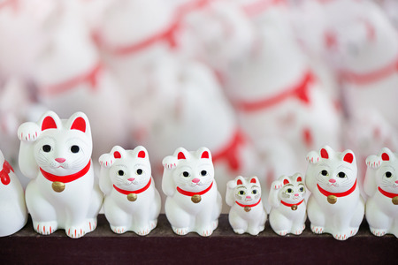 Lucky cat. Fortunate cat. Japanese ornament