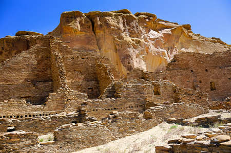 Ruins of Pueblo Bonito at Chaco Canyon