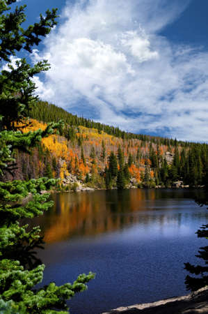 Fall at Bear Lake, in the Rocky Mountain National Park, Colorado
