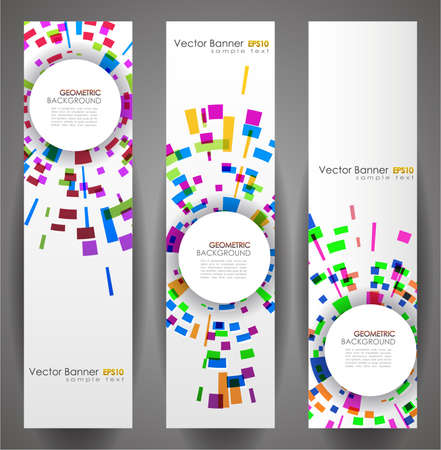 Geometric Circles Banner Set. 160x600. Vector Illustration. EPS10