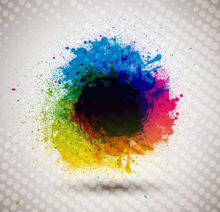 Colorful ink splash banner