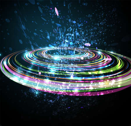 Abstract Perspective Circle background