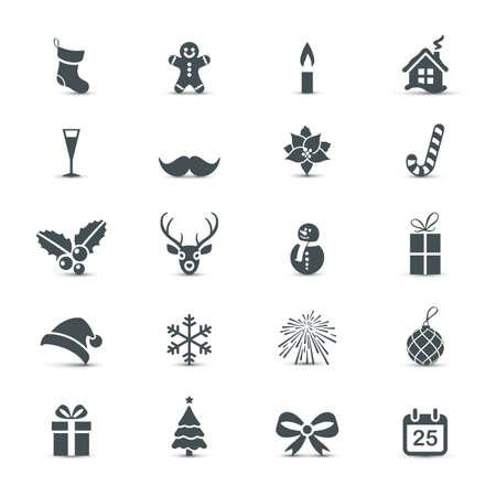 Ilustración de Holiday Icons set (Christmas and New Year) - Imagen libre de derechos