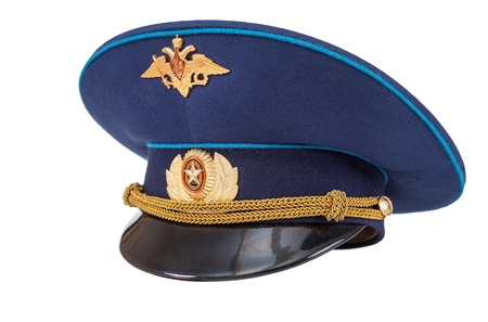 Russian military officer cap  Air Force  isolated on white