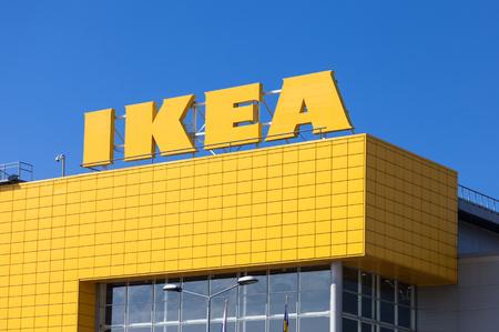 SAMARA, RUSSIA - APRIL 19, 2014: IKEA Samara Store. IKEA is the world's largest furniture retailer and sells ready to assemble furniture