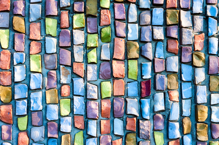 Foto de Abstract colorful mosaic texture as background - Imagen libre de derechos