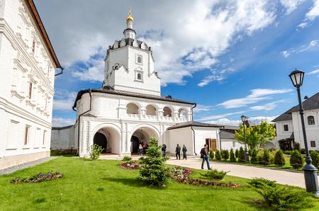 Sviyazhsk, Russia - June 11, 2018: Gate Church of Sviyazhsk Assumption Monastery