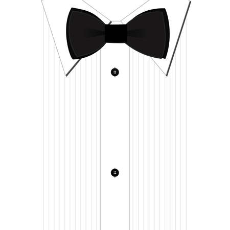 Black bow-tie and a classic white shirt