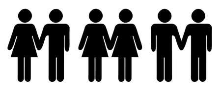 Stick figures  symbols for different relationship