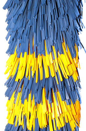 Close up of automatic car wash brushes