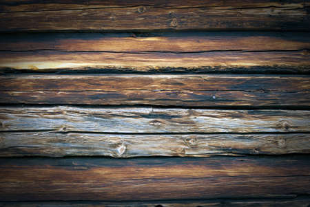 Old, grunge wood wall used as background