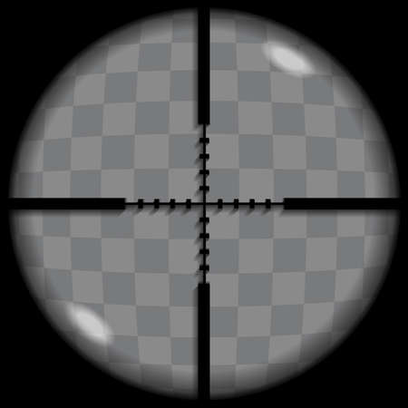 Put your text or picture behind the crosshair, crosshair or reticle