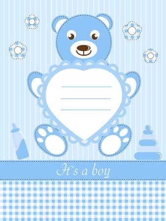 Photo pour Baby boy shower invitation card - image libre de droit