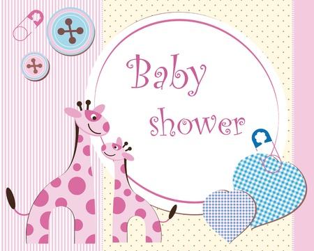 Photo pour Baby shower - girl - image libre de droit