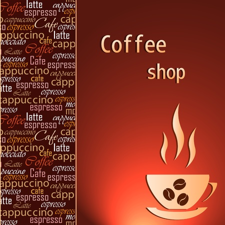 Template of a coffee shop