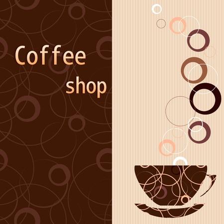 Template for a tea, coffee, chocolate menu