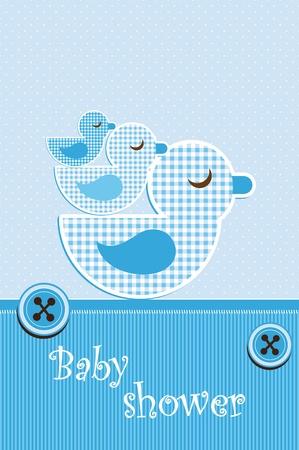 Illustration pour Baby shower - boy - image libre de droit