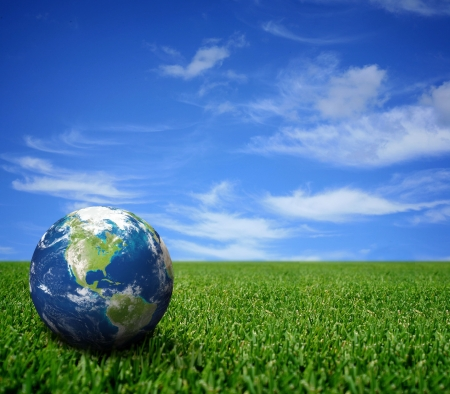 Foto de Landscape with globe - Imagen libre de derechos