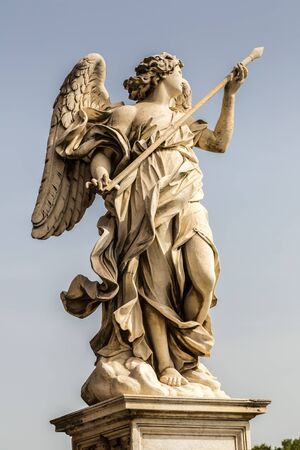 Statue of angel  at Sant Angelo bridge in Rome, Italy,