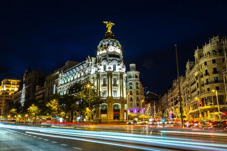Madrid in a beautiful summer night in Spain