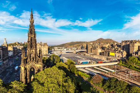 The Walter Scott Monument in Edinburgh in a beautiful summer day, Scotland, United Kingdom