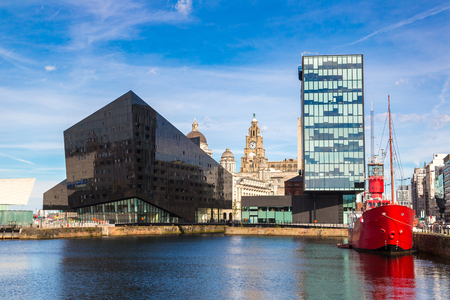 Modern architecture in Liverpool, England, United Kingdom